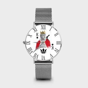Metal Watch Re di Picche Dame Rouge