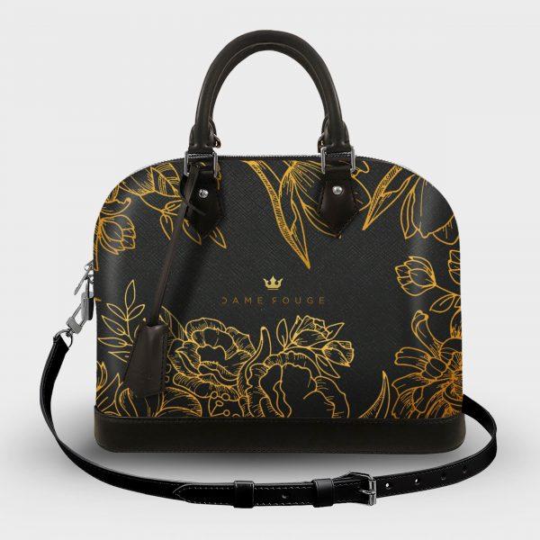 Soul Bag Brilliant Flowers Noir Dame Rouge