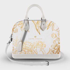 Soul Bag Brilliant Flowers White Dame Rouge