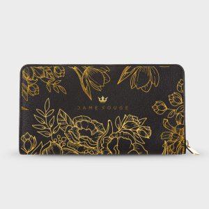 Portafoglio Brilliant Flowers Noir Dame Rouge