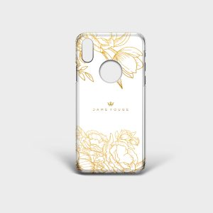 Cover Iphone Brilliant Flowers white Dame Rouge