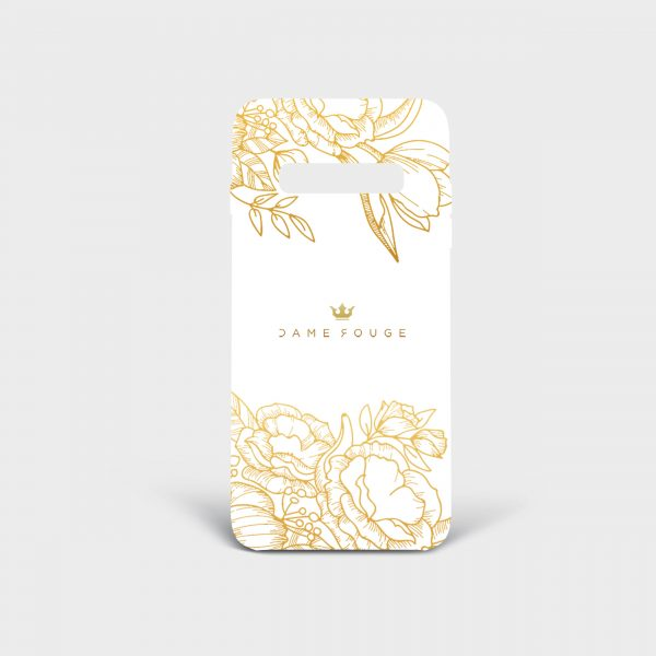 Cover Samsung Brilliant Flowers White Dame Rouge