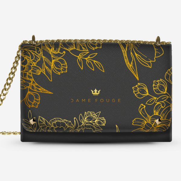 Lovely Bag Brilliant Flowers Noir