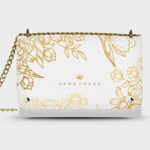 Lovely Bag Brilliant Flowers White
