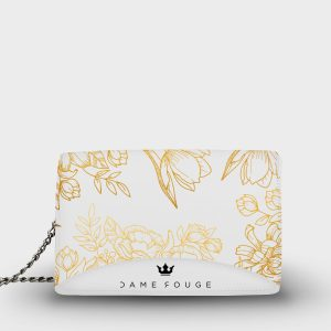 Moon Bag Brilliant Flowers White Dame Rouge